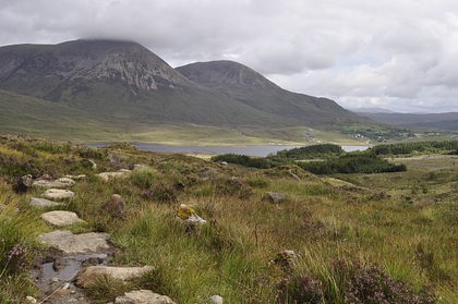 Red Cuillins and Torrin from the Blaven track