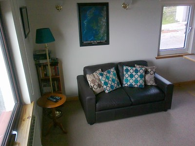 Pier House Self Catering Holiday Cottage Apartment for 2 in Elgol, Isle of Skye - the living room