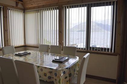Pier House Self Catering Holiday Cottage Accomodation Elgol - the dining room